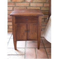 Colonial bedside table with drawer and two doors