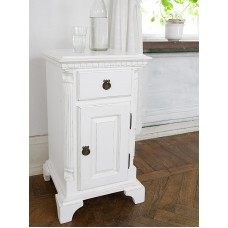Gustavian bedside table with drawer and door