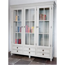 Gustavian bookcase 6 drawers and 3 doors