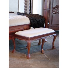 English Chippendale 6 leg stool