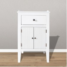 Gustavian bedside table with drawer and doors