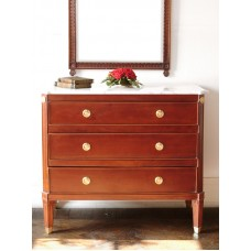 Gustavian chest of drawers, with marble table top