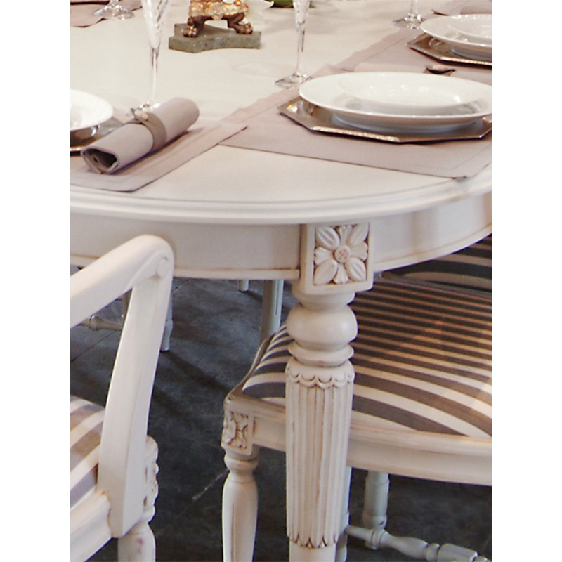 Gustavian Dining Table For 4 8 People Round