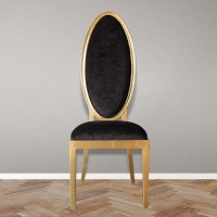 Ornella. Accent chair with oval back